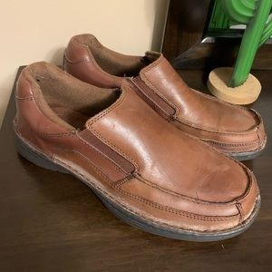 Dr Scholl's leather loafers